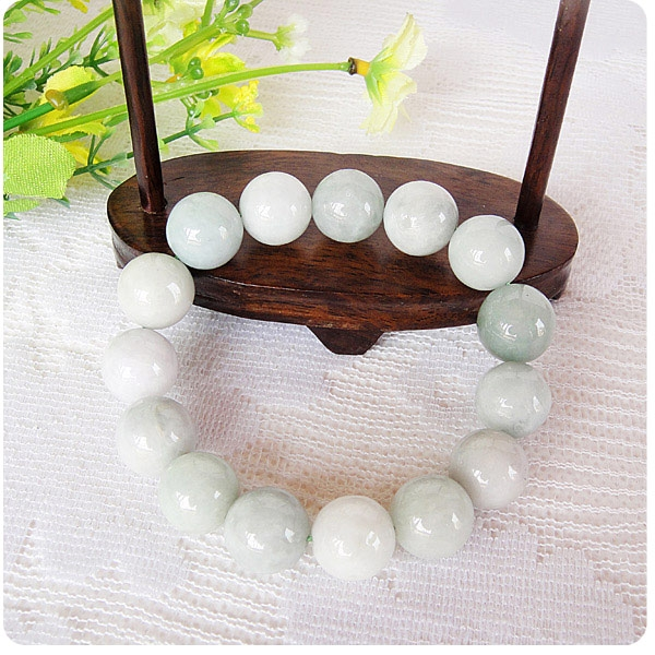 bracelet jade boule blanc pas cher. Black Bedroom Furniture Sets. Home Design Ideas