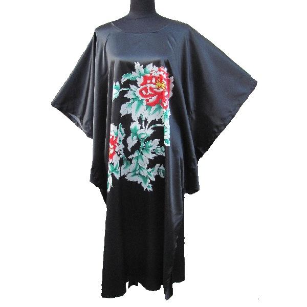kimono japonais femme robe noire. Black Bedroom Furniture Sets. Home Design Ideas