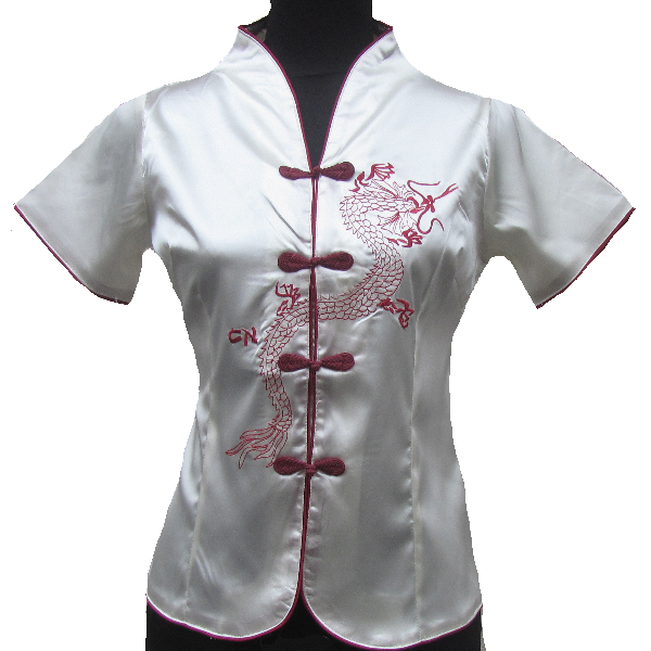 Best Deal #c7d11 Chinois Tunique Chemise Femme Blanc
