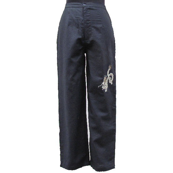 pantalon chinois femme lin noir. Black Bedroom Furniture Sets. Home Design Ideas