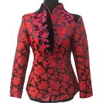 Veste Chinoise Femme Col Mao