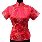 Chemise Chinois Femme Rouge