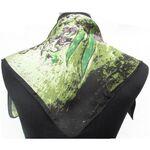 Foulard Carre Pour Robe Vert