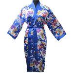 Kimono Femme Japonais Bleu Avec Nuisette