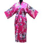 Kimono Fushia Oiseau Porte Bonheur