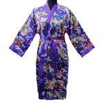 Kimono Japonais Violet Avec Nuisette Ensemble