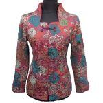 Veste Chinoise Coton Motif Bonheur