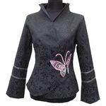 Veste Noir Motif Papillon