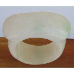 Bague Jade Vert Blanc