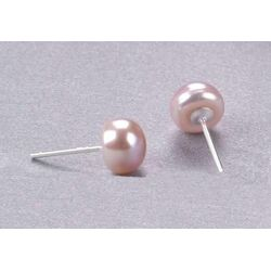 Boucles en Perles Culture Rose