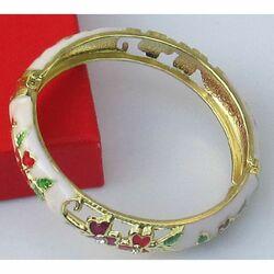 Bracelet Chinois Blanc Motif