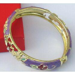 Bracelet Cloisonne Chinois Violet