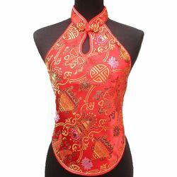 Bustier Chinois Rouge Bonheur