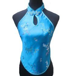 Dos Nue Chinois Bleu Fleurs