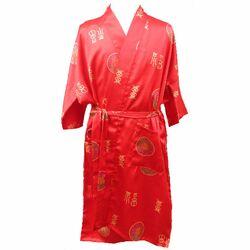 Kimono Chinois Enfant Rouge Bonheur