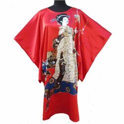 Kimono Robe Courte Rouge