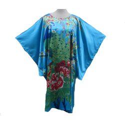 Kimono Turqoise en Soie Pour Femme