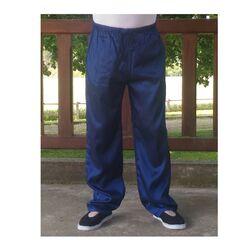 Pantalon Chinois Homme Femme Soie Bleu