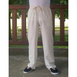 Pantalon Chinois Lin Blanc