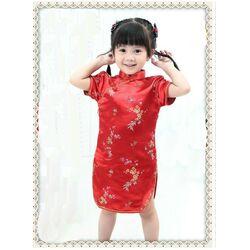 Robe Chinoise Enfant Rouge