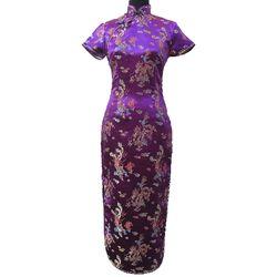 Robe Chinoise Longue Violette
