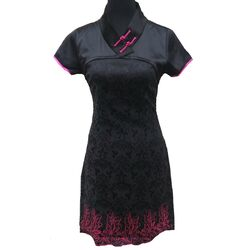 Robe Chinoise Noir Hotesse Manifique
