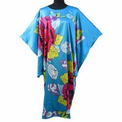 Robe Kimono Chinoise Turquoise