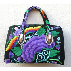 Sac a Main Chinois Noir Traditionnel