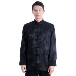 Veste Homme Chinoise Soie Noire