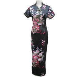 Robe Chinoise Longue Noire