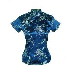 Chemise Chinoise Bleu