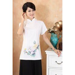Chemise Femme Lin Coton Blanche