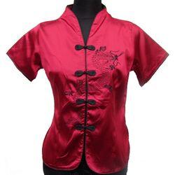 Chemise Rouge Bordeau