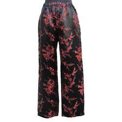 Pantalon Chinoise En Soie Motif Fleur