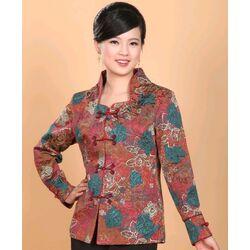 Veste Chinoise Traditionelle Femme Motif Bonheur Fleur
