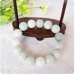 Bracelet Jade Boule Blanc Pas Cher