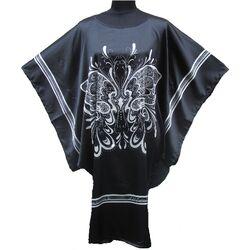 Kimono Robe Court Noir Motif