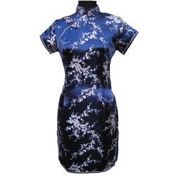 Robe Chinoise Bleu Fleur