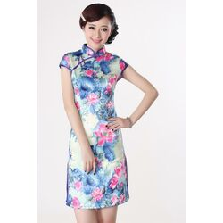Robe Chinoise Courte Collection Manifique