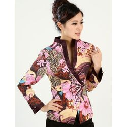 Veste Chinoise Femme Bonheur Motif
