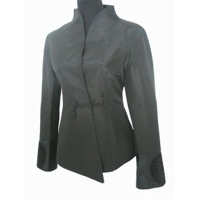 Chaqueta vestida negro de mujer sedachaqueta de de kOuwPXZiT