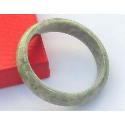 Bracelet Jade Birmanie Blanc 5.8cm