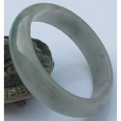 Bracelet Jade Petit Vert Motif 5.8cm