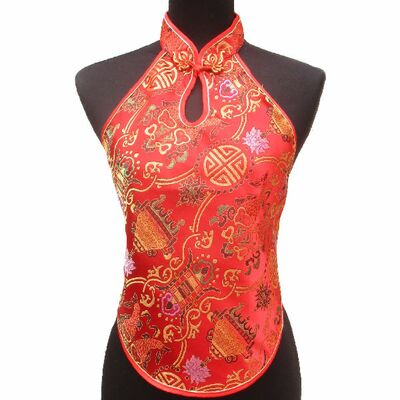 Bustier Chinois Rouge Bonheur