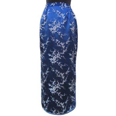 Jupe Chinoise Bleu Soie