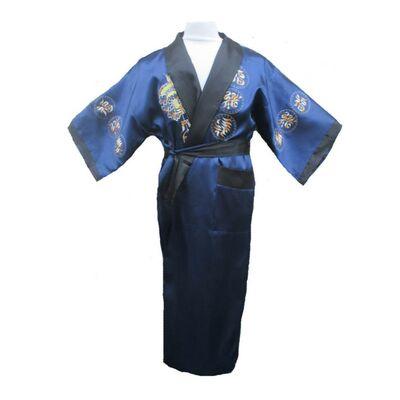 Kimono Double Face Bleu Noir