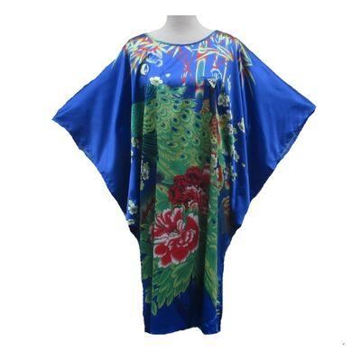 Kimono Robe Courte Bleue Marine
