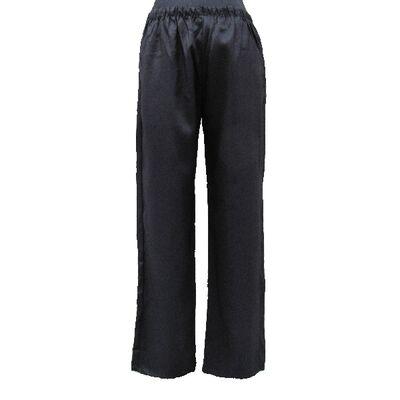Pantalon Chinois Homme Femme Noir Unie