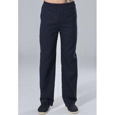 Pantalon Chinois Lin Bleu Marine