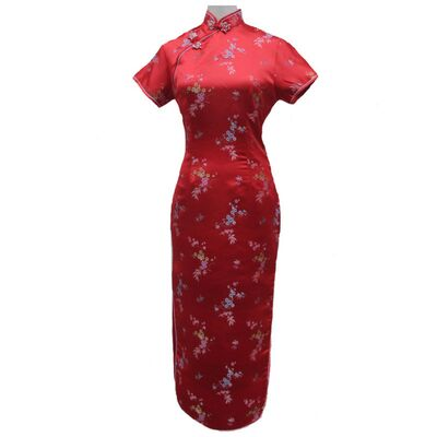 Robe Chinoise Longue Rouge
